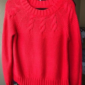 Red thick sweater